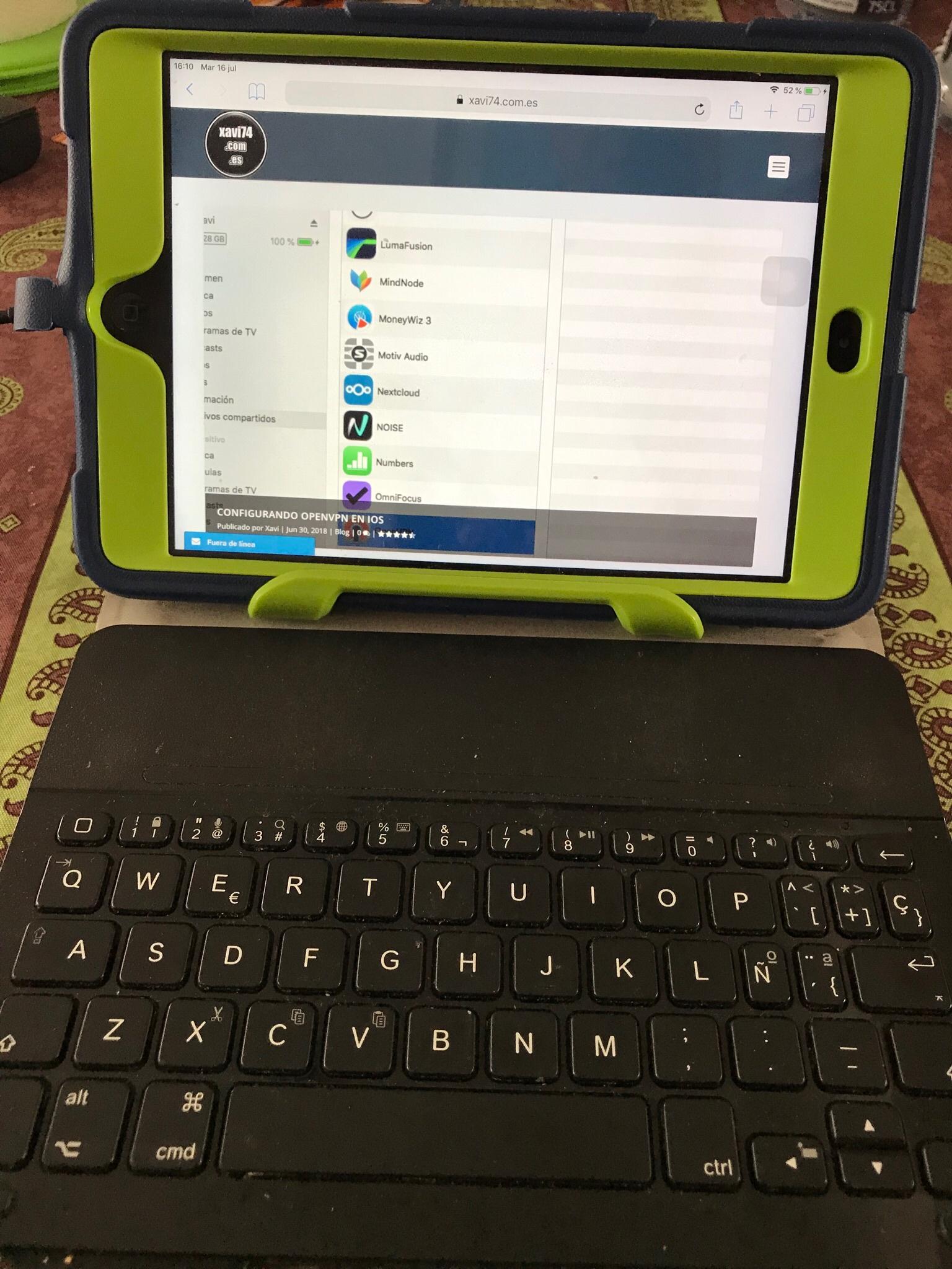 iPad mini  con teclado logitech